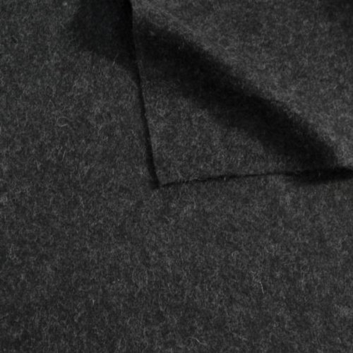 STOFFKONTOR Wollfilz Wollstoff Meterware Dunkel-Grau meliert