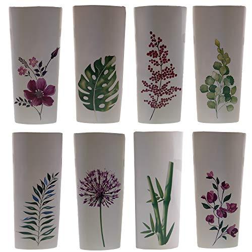 8 x Luftbefeuchter Heizung je 280 ml Verdunster für Heizkörper aus Keramik Vintage chic neutral