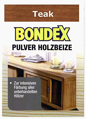Bondex Holzbeize Pulverbeize Beutelbeize Beize auf Wasserbasis für Möbel 5er Pack - teak