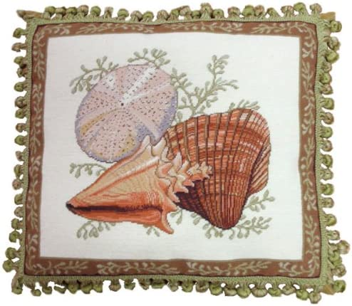 Deluxe Pillows Two Gifts Shells New product type and Urchin - 18 x in. p 20 needlepoint