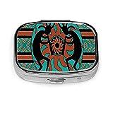 Portapillole Organizzatore Native American Indian Flauto Portapillole vintage per borsa/ta...