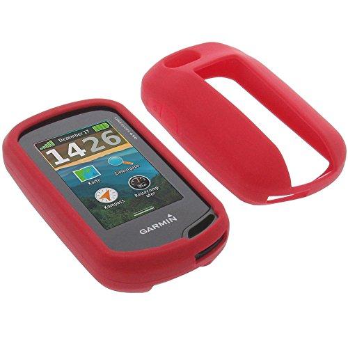 foto-kontor Tasche für Garmin Oregon 650 Oregon 650t Schutzhülle Silikon Case Schutz Hülle rot