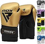 RDX Guantes de Boxeo Niño para Entrenamiento y Muay Thai | Maya Hide Cuero Junior Mitones para Kick Boxing, Sparring | Kids Boxing Gloves para Saco Boxeo, Training
