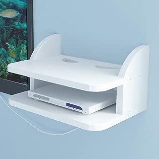 FU HOME PS4用Xbox One TVボックスケーブルボックスストリーミング機器用壁掛けフローティング棚ルーター棚セットトップボックスサポート