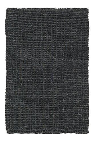 Jute & Co Boucle tapijt, handgeweven, bouclé, jute, zwart