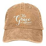 Jopath His Grace is Sufficient Hats, gorro de béisbol para mujer y hombre, cálido y grueso, natural, Talla única