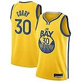 Zxwzzz Los Hombres De Camiseta De La NBA Golden State Warriors No.30 Curry Jerseys Transpirable Bordado Baloncesto Swingman Jersey (Color : Yellow D, Size : XX-Large)