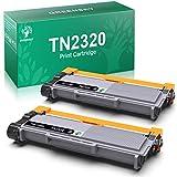 GREENSKY TN2320 Cartucho de Tóner Compatible para Brother TN2320 TN2310 para Brother MFC-L2740DW L2700DW L2720DW HL-L2365DW L2300D L2340DW DCP-L2540DN L2500D L2520DW (2 Negro)