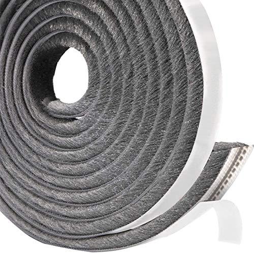 Leobro 隙間テープ すきまモヘアテープ 10m×6mm×12mm グレー 毛足長い 超ロングサイズ モヘアすき間シール 虫よけすき間テープ 網戸用 玄関 ドア用 窓用 サッシ用 隙間対策
