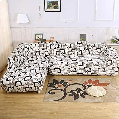 WXQY Patrón geométrico en Forma de L Funda de sofá Modular sofá Toalla Familia decoración antiincrustante Funda de sofá Todo Incluido A9 3 plazas