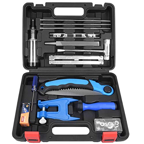 Codirom Chainsaw Tool Set Chainsaw Sharpener Tools Set Chainsaw File 5/32 3/16 7/32 Chainsaw Sharpening Kit Chainsaw File Kit Pruning Saw Vise Grease Gun