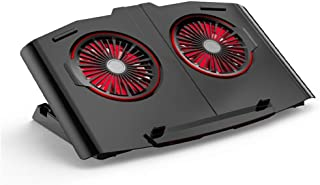 Laptop Cooler 2 Powerful Fans Computer Stand Red Light Gaming This Lifting Rack Is For 17 Inches (inclusive) Or Less