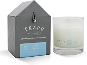 Trapp Signature Home Collection No. 67 Fine Linen Poured Scented Candle, 7 Ounce