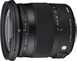commercial Sigma 17-70mm f / 2.8-4 DC Macro OS (Optical Stabilizer) HSM Lens for Canon EOS Camera sigma macro lenses for canon