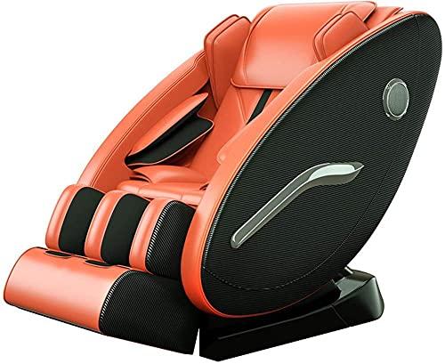 LHMYHJR Massage Stuhl Ganzkörperluftdruck & Amp Shiatsu Recliner mit Heizkissen Fußrollen Bluetooth-Lautsprecher-Halsschulter zurück Kalb- und Fußmassagegerät