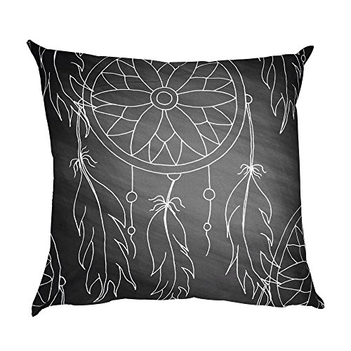 Boho style Elegant Print Pillow Case Polyester Sofa Car Cushion Cover Home Decor 18*18inch (C)