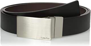 Calvin Klein Men's Calvin Klein Round Edge Plaque Buckle 32mm Reversible Belt