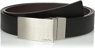 Men's Calvin Klein Round Edge Plaque Buckle 32mm Reversible Belt