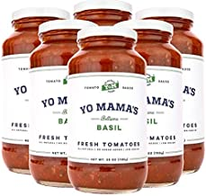 Gourmet, Keto & Paleo Certified Tomato Basil Pasta Sauce Multi Pack   (6) 25 oz Jars – No Sugar Added, Gluten Free, Preservative Free, Keto and Paleo Certified, and Made with Whole, Non-GMO Tomatoes!