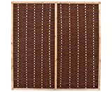 bambus-discount.com Weidenwand Mia 180x180cm hochwertig mit Mittelstrebe, gekochte Weide, Holz gebeizt