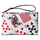 Wristlet Made From Real Playing Cards Prime Cool fun gift idea for card player magician friend bridge poker game player deck convention in las vegas trip who likes to play solitaire at work queen