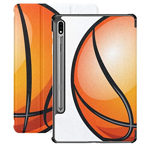 Baloncesto Aislado en Blanco Funda para Tableta Samsung Galaxy para Samsung Galaxy Tab S7 / s7 Plus Funda para Galaxy S7 Funda para Soporte para Samsung Galaxy S7 para Galaxy Tab S7 11 Pulgadas S7 Pl