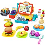 Best Toy Cash Registers - SUPERHIGH Kids Cash Register Toy with Cuttable Food Review