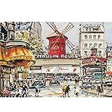 Valhalla Puzzles Adultos 1000 Piece - Ampliación de Padres e Hijos Juego de Puzzle de Juguete de Regalo de los niños - Moulin Rouge