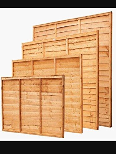 Panneaux de clôture à recouvrement - 6 mm dépaisseur