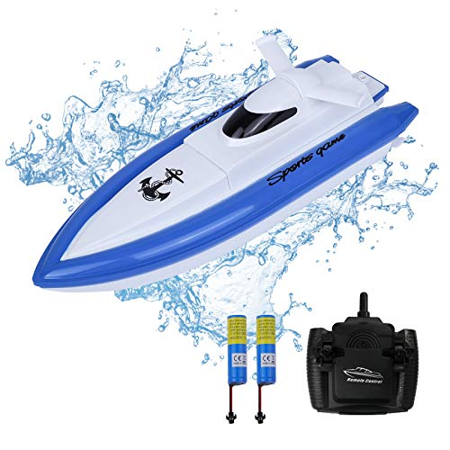 Rabing Remote Control Boat, 2.4Ghz High Speed Racing Boat with 2...
