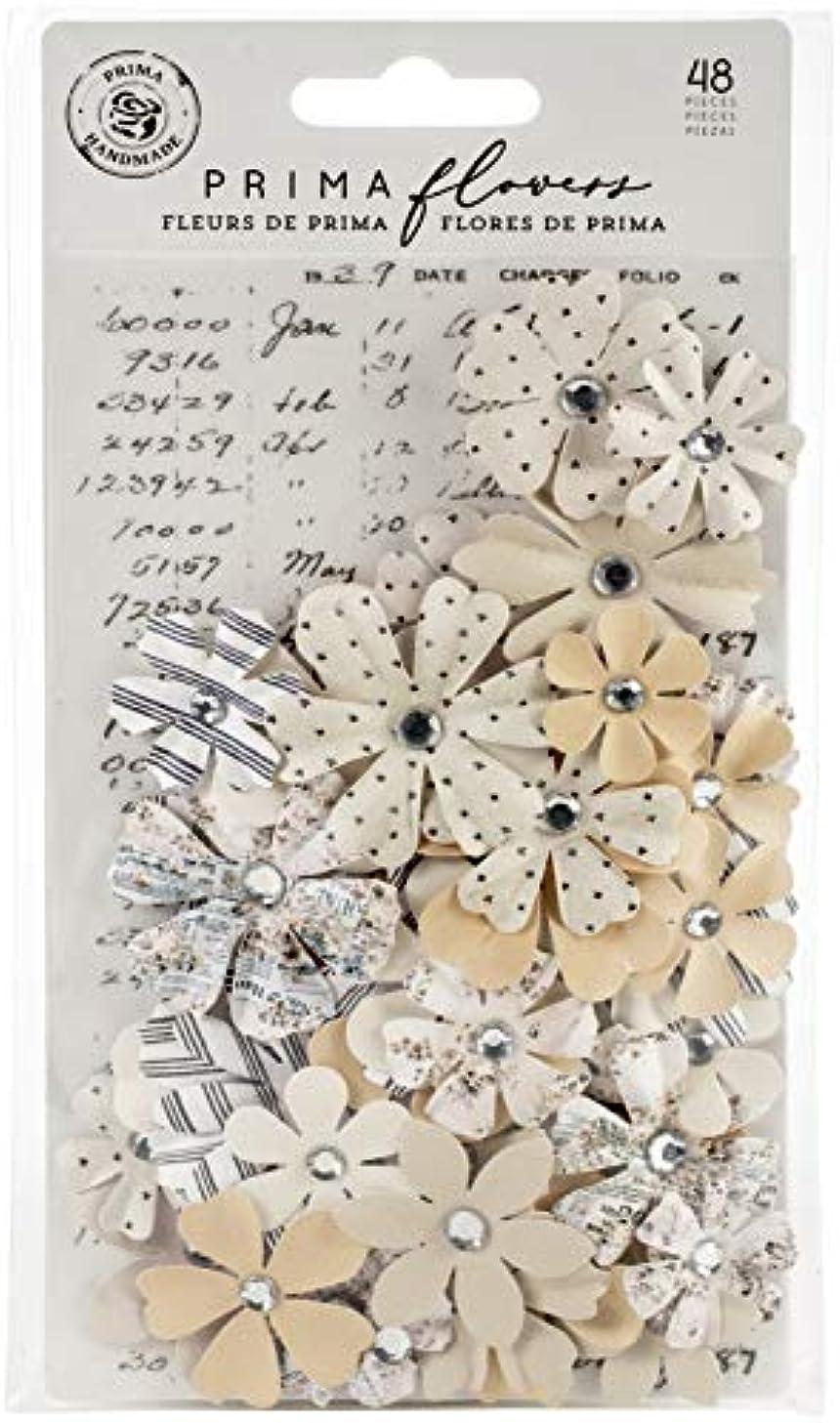 Prima Marketing 637675 Pretty Pale Paper Flowers 48/Pkg-Organic Beauty