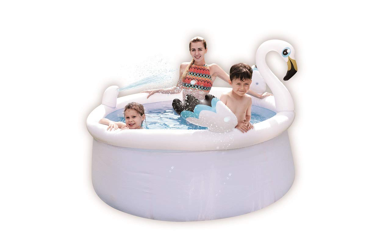 JILONG Piscina autoportante Spray Flamingo con pulverizador y ...