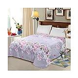 AMDXD Funda de cama de poliéster, diseño de lirio y rosa, transpirable, hipoalergénica (1 sábana de 200 x 230 cm)