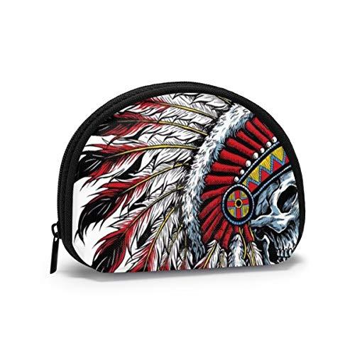 American Original Motocicleta Indio cráneo Mujeres niñas Shell cosmético Maquillaje Bolsa de Almacenamiento al Aire Libre Compras Monedero Organizador de Cartera