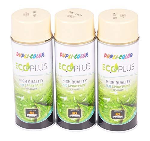 Unbekannt 3X 400ml Dupli Color ECOPLUS Lackspray Elfenbein Farbspray Sprühlack Sprühdose