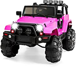 Best Choice Products Kids 12V Ride On Truck, Battery Powered Toy Car w/ Spring Suspension, Remote Control, 3 Speeds, LED Lights, Bluetooth - Pink