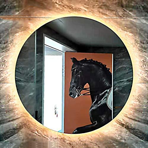 Espejos de Baño con Luz Led Incorporada, Espejo Baño Pared, Espejo Maquillaje con Luz LED Espejo de Maquillaje Táctil Ultra Alta Definición Profesional Más Seguras