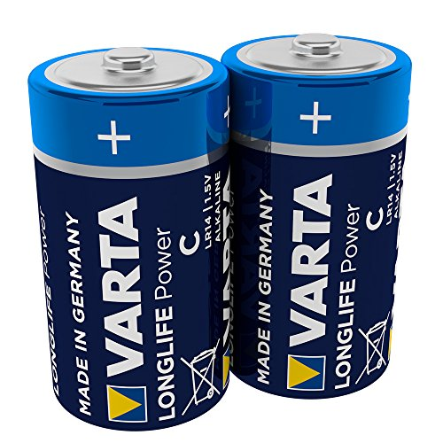 VARTA Longlife Power Batterie C Baby Alkaline Batterien LR14, 2er Pack