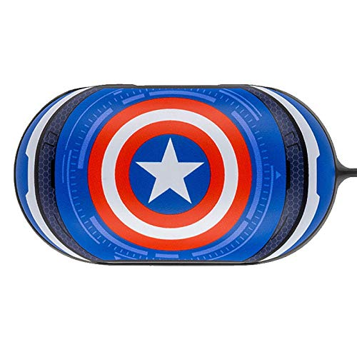 Colourful Case Cover for Samsung Galaxy Buds/Buds+ Plus with Avengers Character (Captain America)