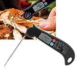 Kuuleyn Grillthermometer, Backthermometer, digitales Thermometer mit Faltbarer Sonde Lebensmitteltemperaturmesser Hochgenaues Küchenzubehör