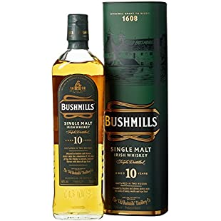 Bushmills 10 Year Old Single Malt Irish Whiskey, 70 cl