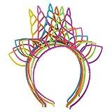 YeahiBaby Kunststoff Einhorn Haarband kreative Haarband für Kinder (6 stück mischfarbe)