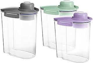Boîte de rangement de cuisine - Boîte de conservation alimentaire - Joint d'étanchéité efficace - Bidon en plastique hermé...