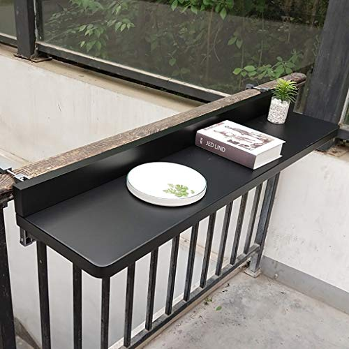 Ailj Mesa Colgante Barandilla De Balcón, Mesa De Bar Plegable para Balcón,...