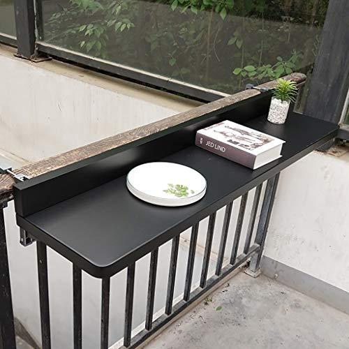 Ailj Mesa Colgante Barandilla De Balcón, Mesa De Bar Plegable para Balcón, Banco De Trabajo Multifuncional De Pared,...