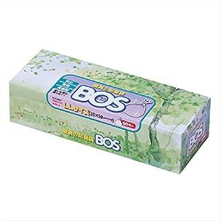 驚異の防臭袋 BOS(ボス)LLサイズ60枚入り 大人用おむつ・うんち処理袋【袋カラー:ホワイト】