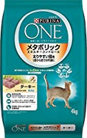 (まとめ買い)ピュリナワンキャット メタボリックエネルギーコントロール 太りやすい猫用 1歳から全ての年齢に ターキー 4kg 【×3】