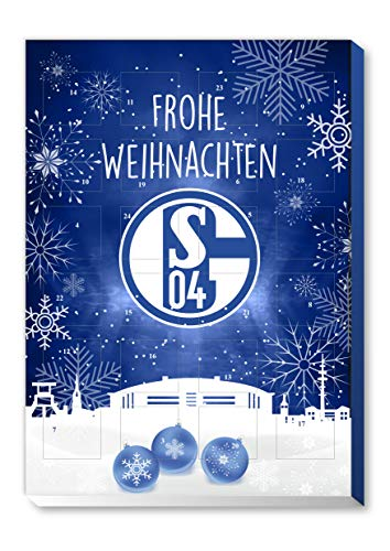 Adventskalender, Weihnachtskalender deines Bundesliga Lieblingsvereins - und Sticker Wir Leben Fußball Fairtrade (Schalke 04)