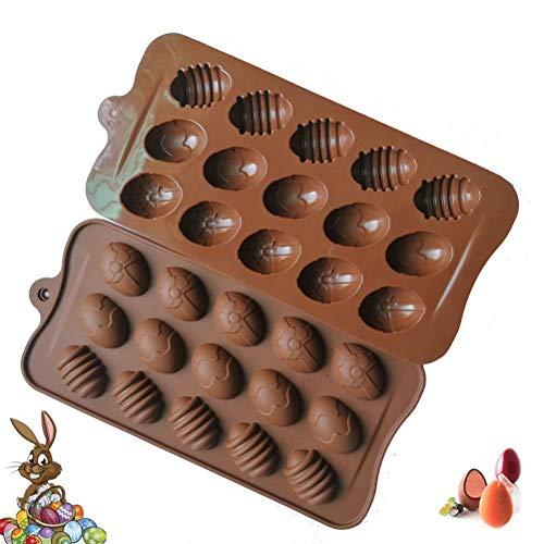 Calayu siliconen bakvorm set 15 groten paastenen ei bakvorm snoep cake chocolade vorm fondant maken bakvorm set voor chocolade cupcakes taart koekjeszeef
