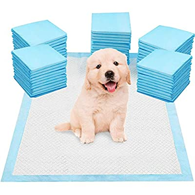 SA Products Heavy Duty Large Pet Puppy Training Pads - Super Absorbent & Odour Locking Multi-Layered Floor Toilet Mats with Scented Attractant (50 Pack)